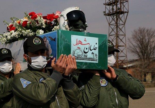 مراسم استقبال از پیکر مطهر خلبان شهید بیک محمدی در تبریز برگزارشد