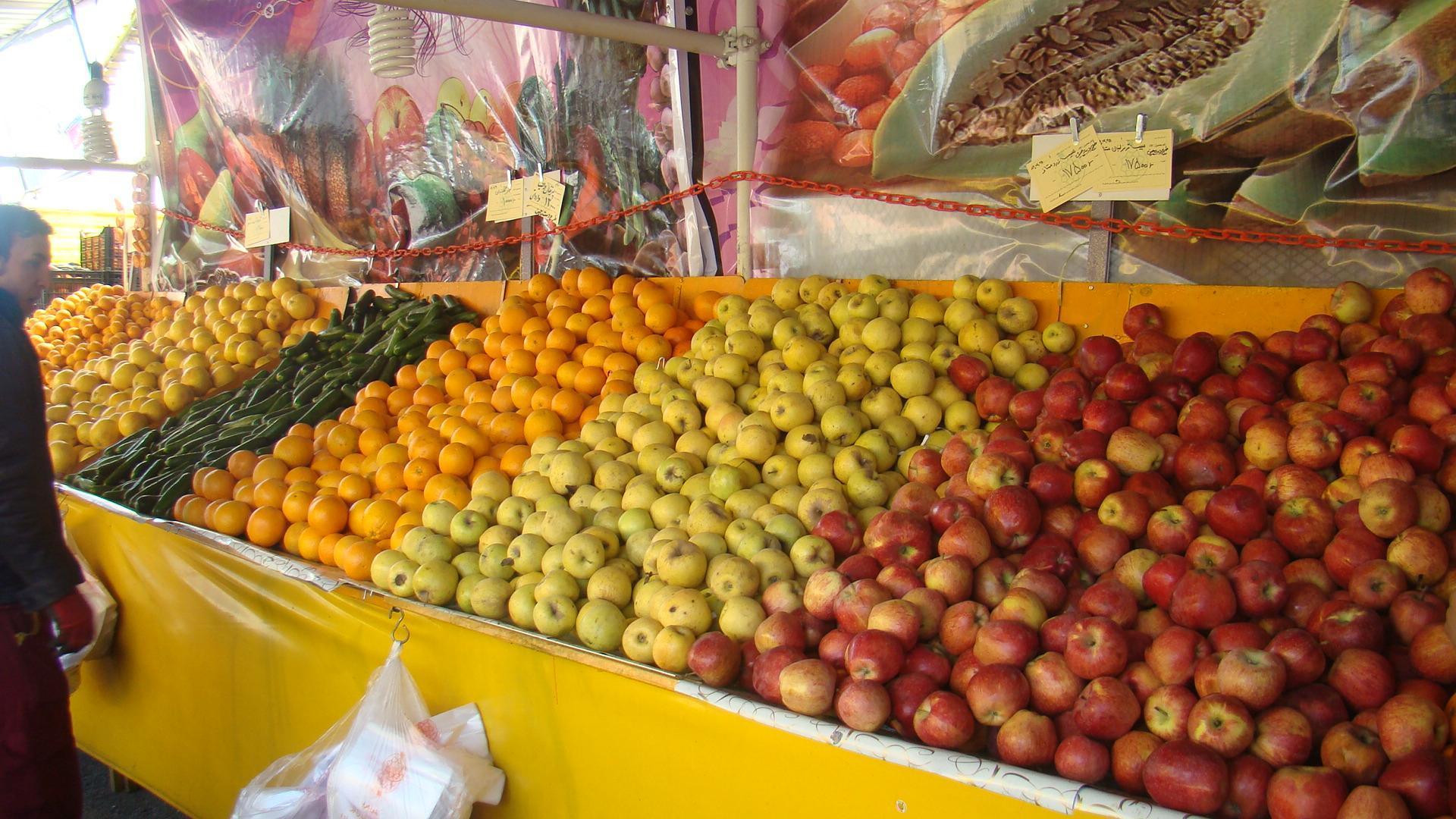 قیمت انواع میوه و تره بار در بازار تهران امروز چهارشنبه + جدول