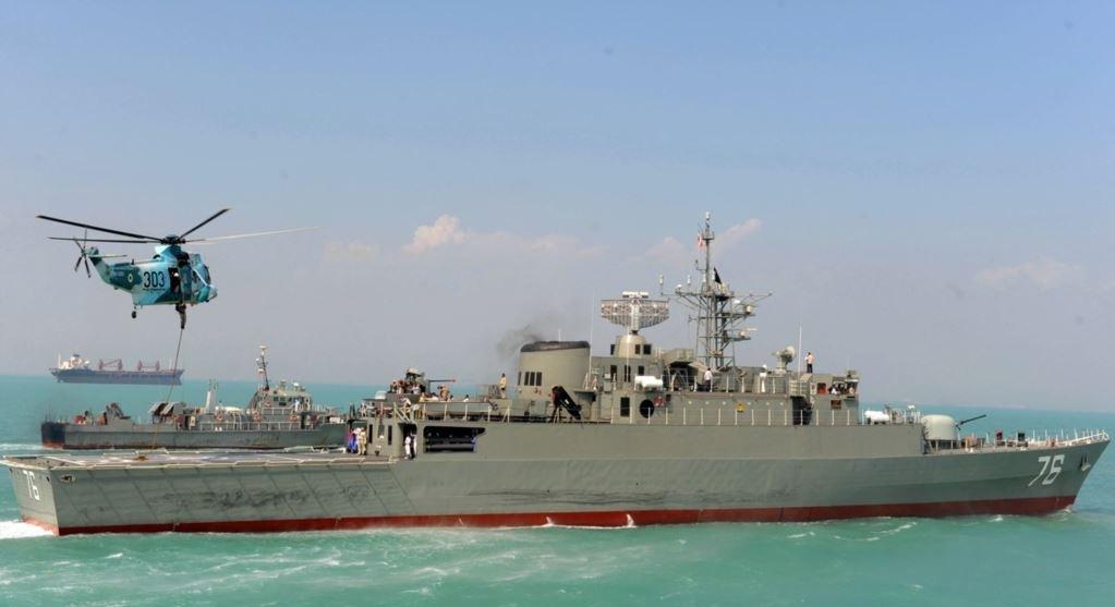 گسترش یگان های نیروی دریایی ارتش تا مدار ۱۵ درجه برای نخستین بار