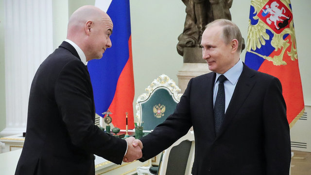 دیدار رییس فیفا و پوتین درباره جام جهانی ۲۰۱۸