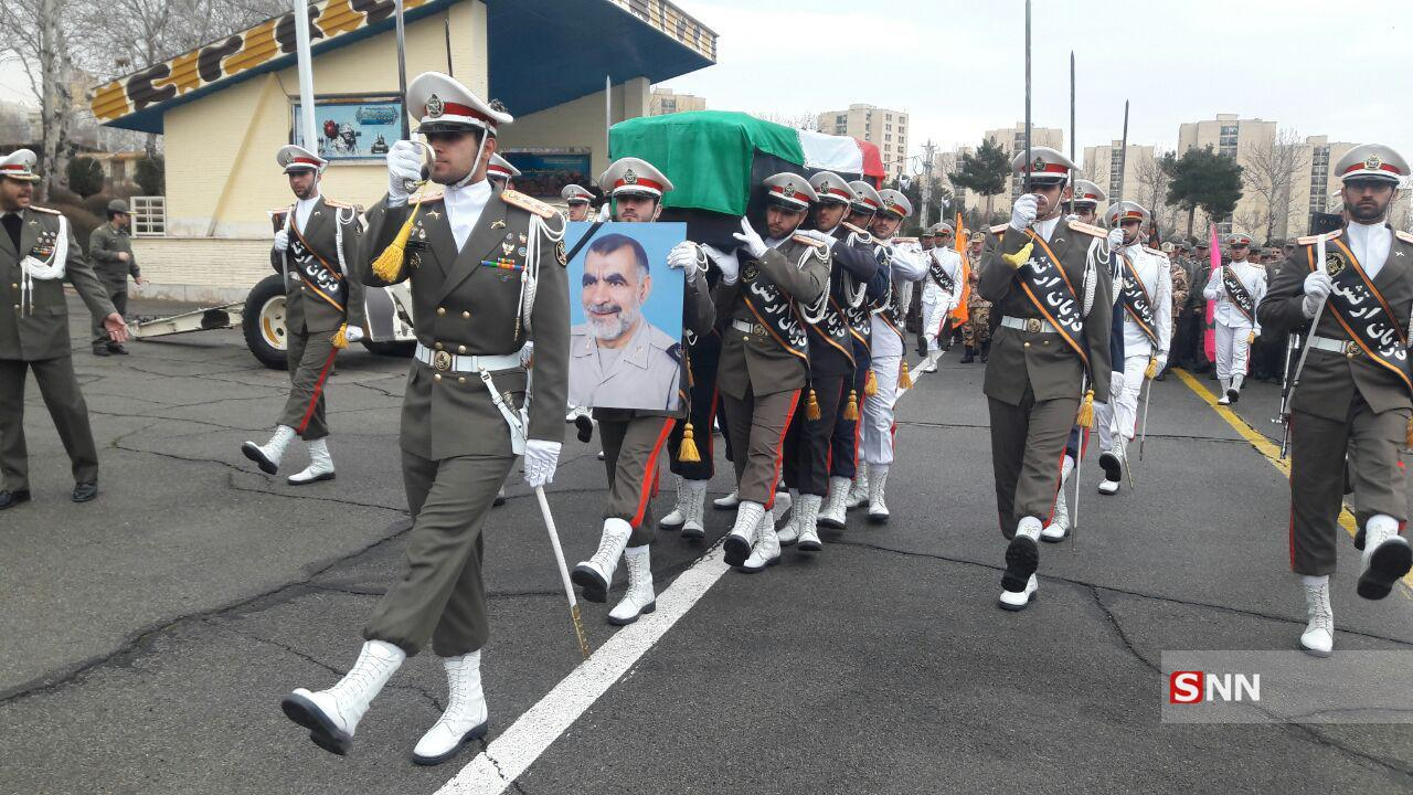 مراسم تشیع امیر سرتیپ دوم محمد حسین انصاری برگزار شد+تصاویر