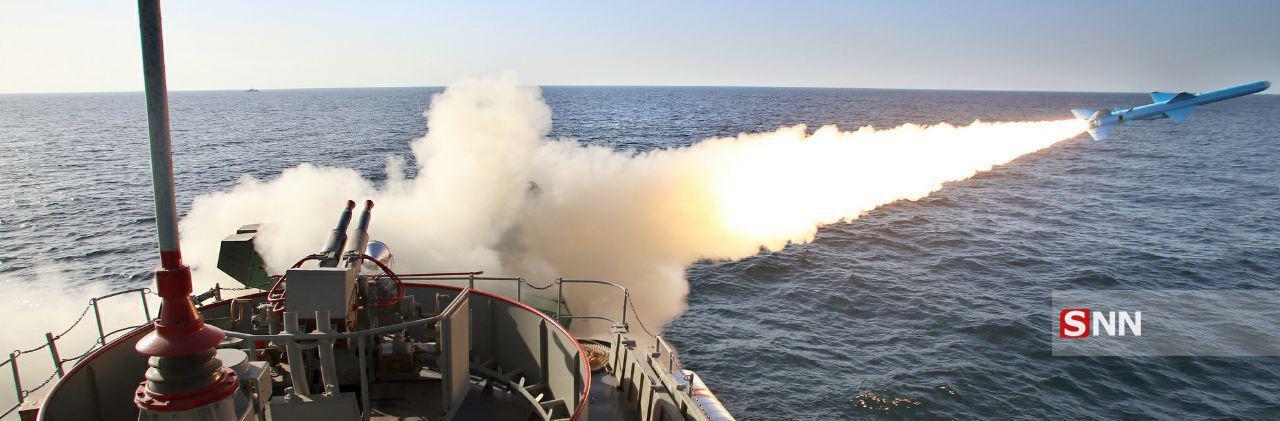 پرتاب موشک قدیر از یگان شناور/شلیک موشک برد کوتاه نصر/ عملیات ترکیبی مین روبی+عکس