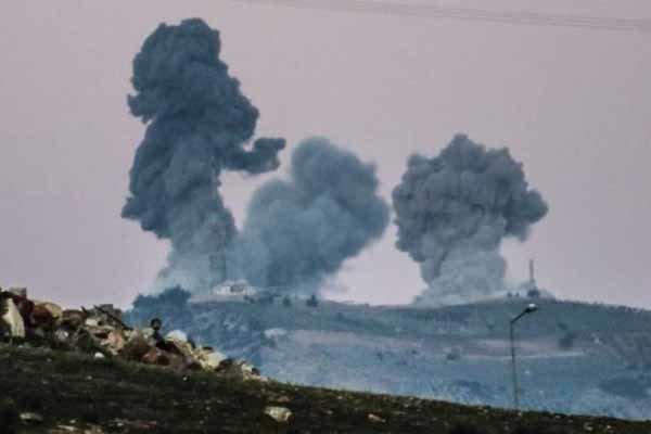 حملات شدید موشکی و خمپاره ای ترکیه به عفرین/ استفاده از گاز کلر