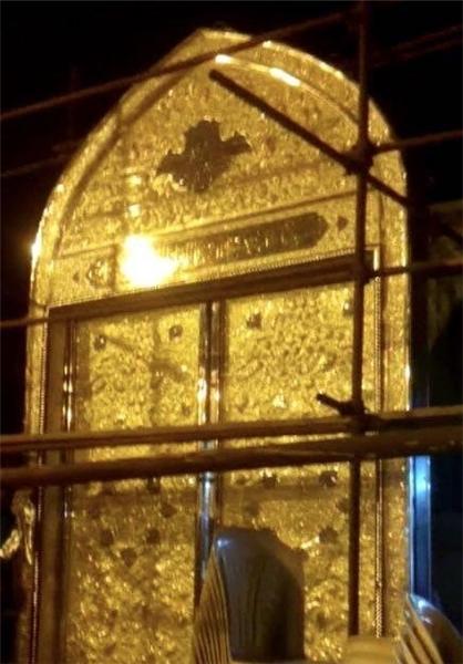 ابداع هنرمندان ایرانی برای ساخت در های بارگاه حضرت مسلم (ع) +تصاویر