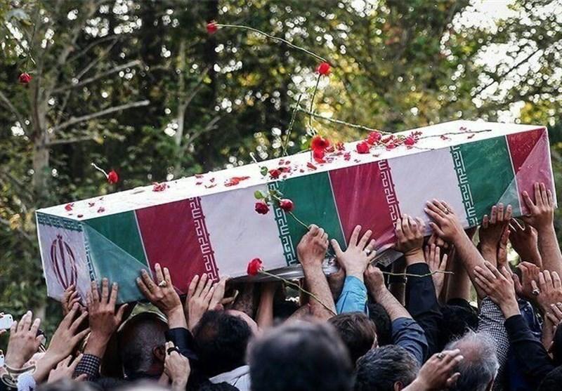تشییع پیکر سه شهید حوادث خیابان پاسداران در ستاد فرماندهی نیروی انتظامی