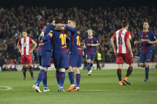 بارسلونا تیم خیرونا را به توپ بست/ درخشش مربع جدید آبی اناری ها