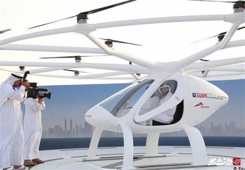 اولین «تاکسی پرنده» در آسمان دبی به پرواز در آمد +عکس
