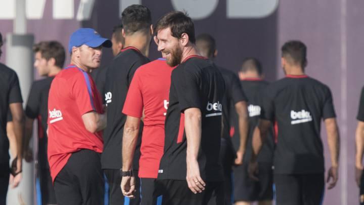 بازگشت مسی به تمرینات بارسلونا+تصاویر