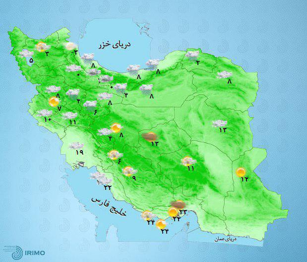 برف و باران در بیشتر مناطق کشور/ هشدار سیلاب