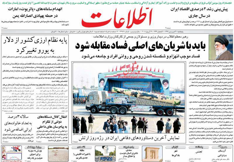 عناوین روزنامههای سیاسی 30 فروردین ۹۷/ شکایت مجلس از روحانی +تصاویر
