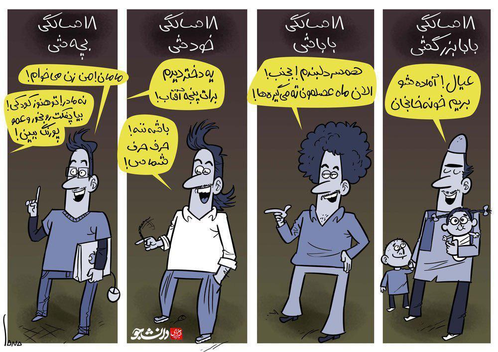 کاریکاتور/ سن ازدواج در ادوار مختلف