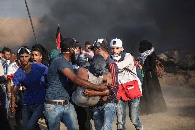 حمله وحشیانه صهیونیستها به تظاهرات هزاران نفری بازگشت در غزه