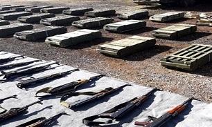 525951 575 - کشف سلاحهای انگلیسی از مناطق آزاد شده از اشغال تروریسم در سوریه