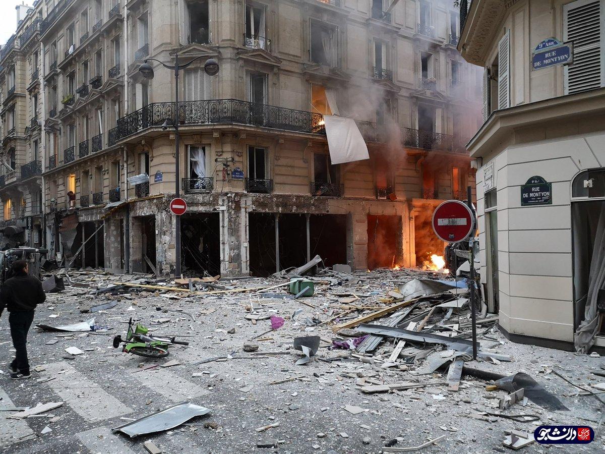 انفجاری مهیب در پاریس