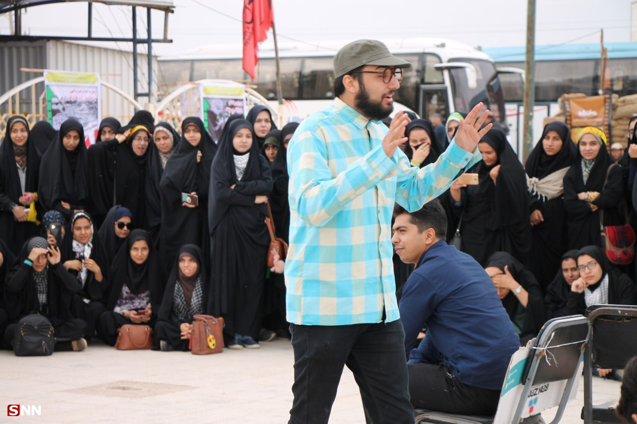تئاتر نمایشی «صندلی انتظار» در راهیان نور دانشجویی به اجرا درآمد/ استقبال ویژه دانشجویان از برنامههای فرهنگی+ تصاویر