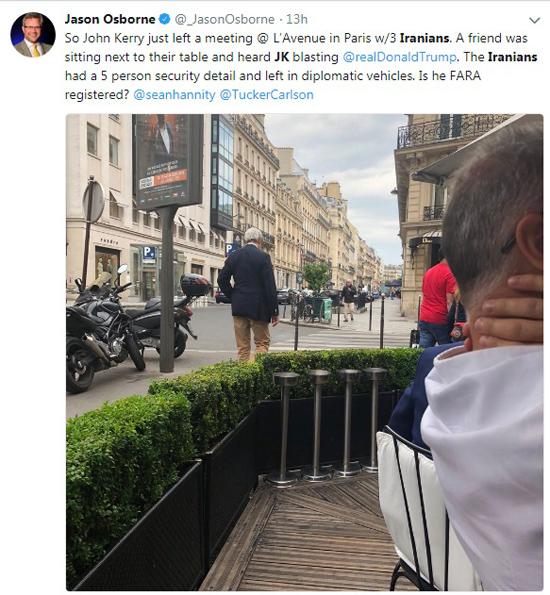 جان کری با سه ایرانی در پاریس دیدار کرد