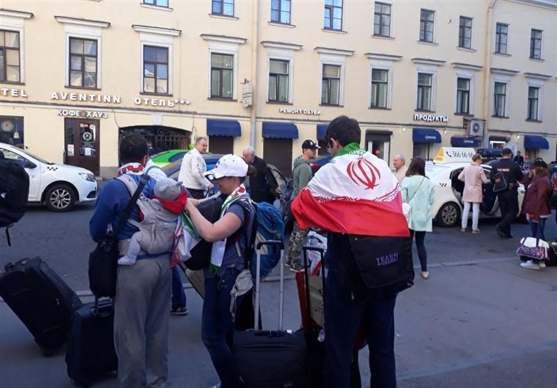 غوغای هواداران ایرانی در سنپترزبورگ/ روسیه در تسخیر ایرانیها