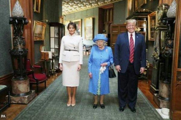دونالد ترامپ با ملکه انگلیس دیدار کرد
