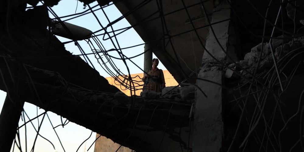 تصاویر مقر گروهک تروریستی حزب دموکرات پس از انهدام