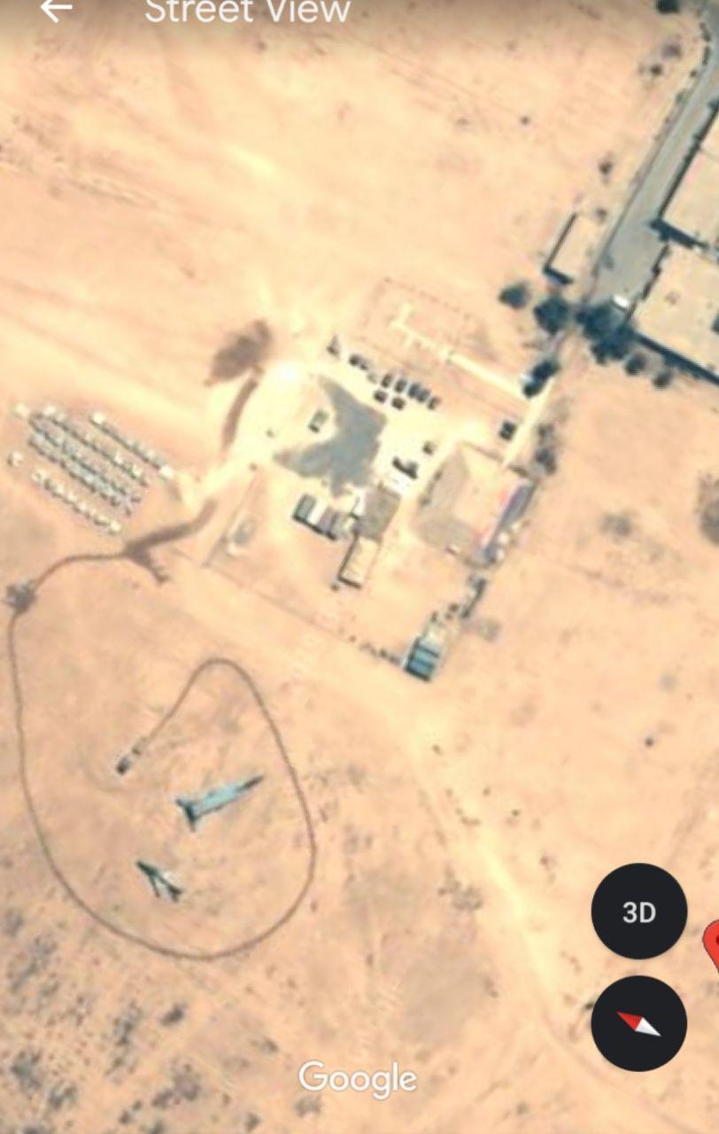 عکس هوایی از آثار حمله موشکی ایران به پایگاه نظامی