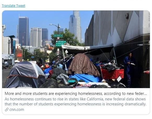 وزارت آموزش آمریکا| آمار عجیبِ دانش آموزان بیخانمان آمریکایی!
