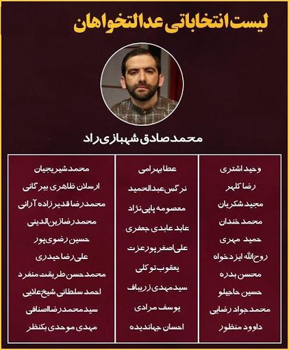 مقایسه لیستهای انتخابات مجلس در تهران + جدول