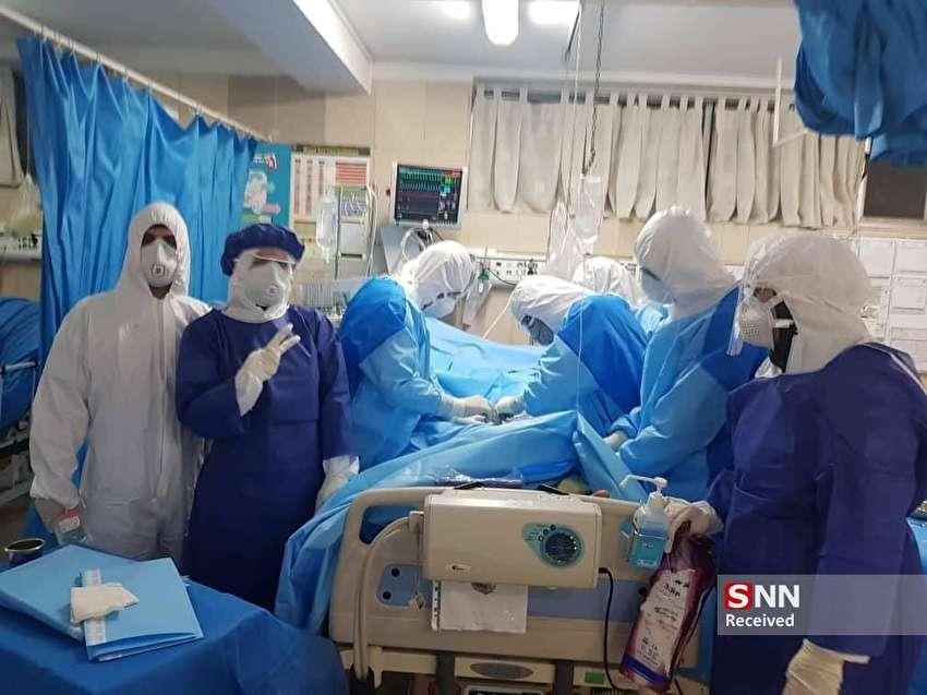 تصاویر اختصاصی از درمان تنها بیمار کرونایی بستری در icu مسیح دانشوری
