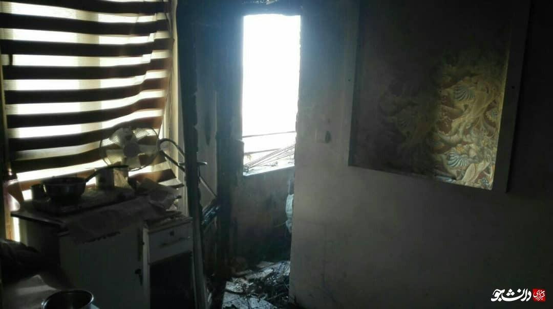 آتش سوزی در یک آرایشگاه زنانه+ عکس