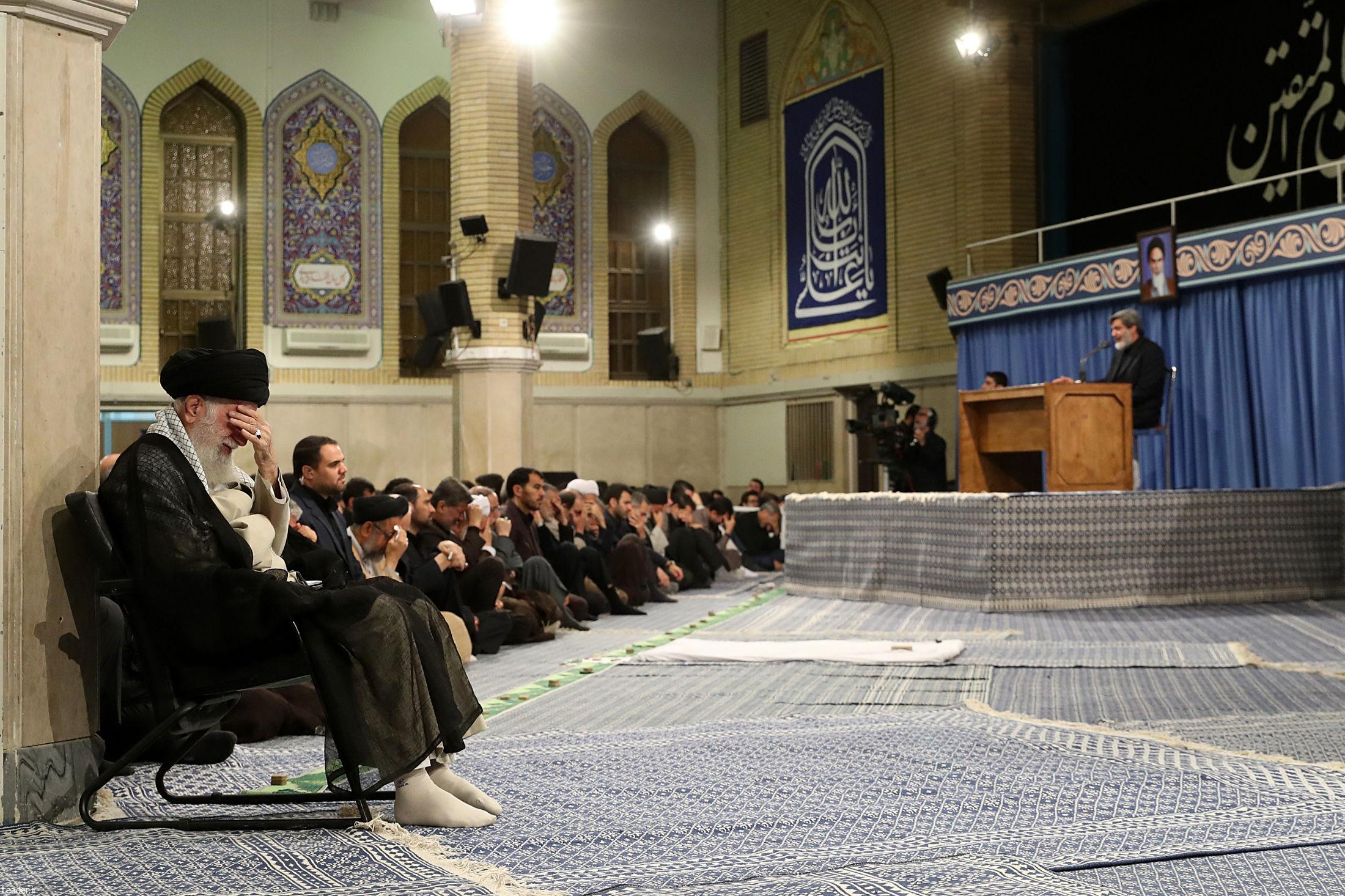 ظهر امروز برگزار شد سوگواری بمناسبت سالروز شهادت امام علی (ع) در محضر رهبر انقلاب
