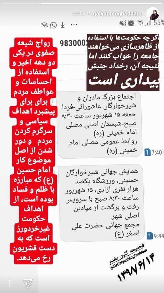توهین یک چهره به ظاهر دانشگاهی به عزاداران حسینی/ جای توهین کنندگان به فرهنگ عاشورایی در دانشگاه فرهنگیان نیست