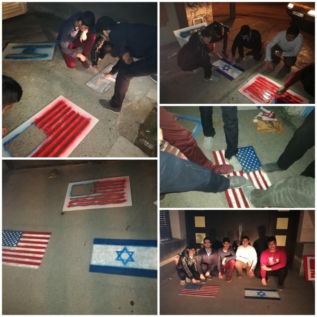 اقدام جالب دانش آموزان گلستانی در آستانه ۱۳ آبان+ عکس