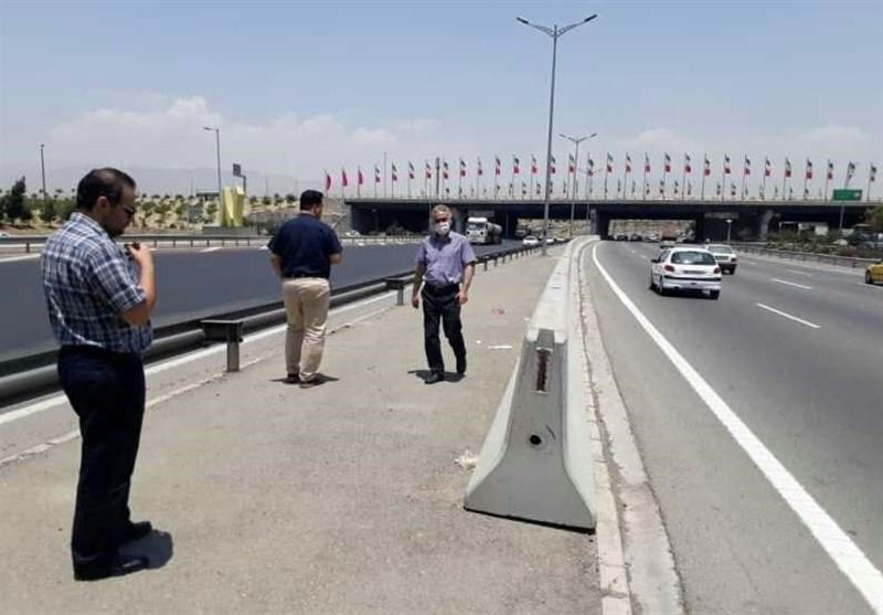 گاردریلهای میانی بزرگراه آزادگان جمعآوری میشود