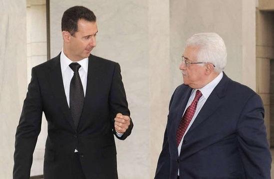 محمود عباس برای بشار اسد پیام ارسال کرد