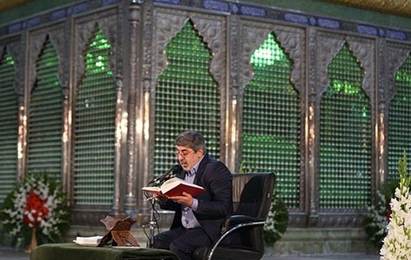 مناجاتخوانی شعبانیه در حرم امام و مسجد الشهدا