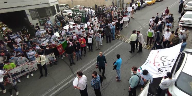 تجمع دانشجویان ایرانی و خارجی در محکومیت حمله تروریستی مدرسه سیدالشهدا کابل