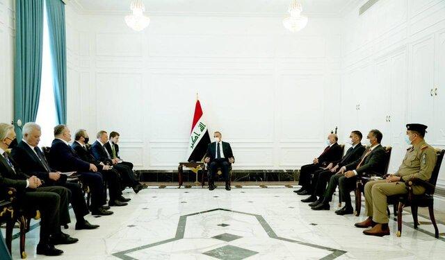 دیدار الکاظمی با معاون نخست وزیر روسیه / امیدواری پوتین به تقویت روابط دوجانبه با عراق