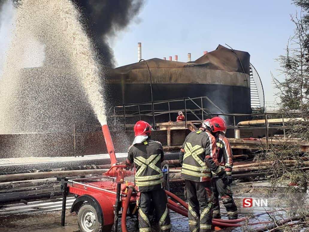 ماجرای فداکاری آتش نشانها در پالایشگاه تهران+ تصاویر/