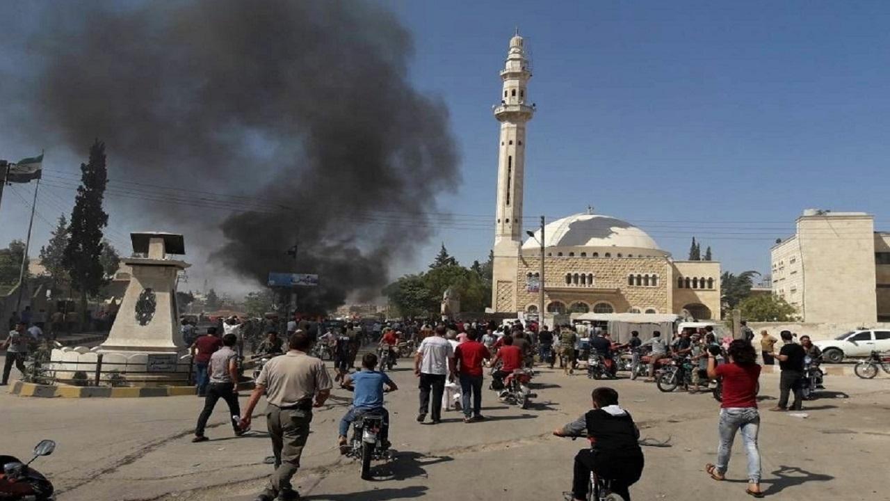 انفجار ۴ خودروی بمب گذاری شده در سوریه