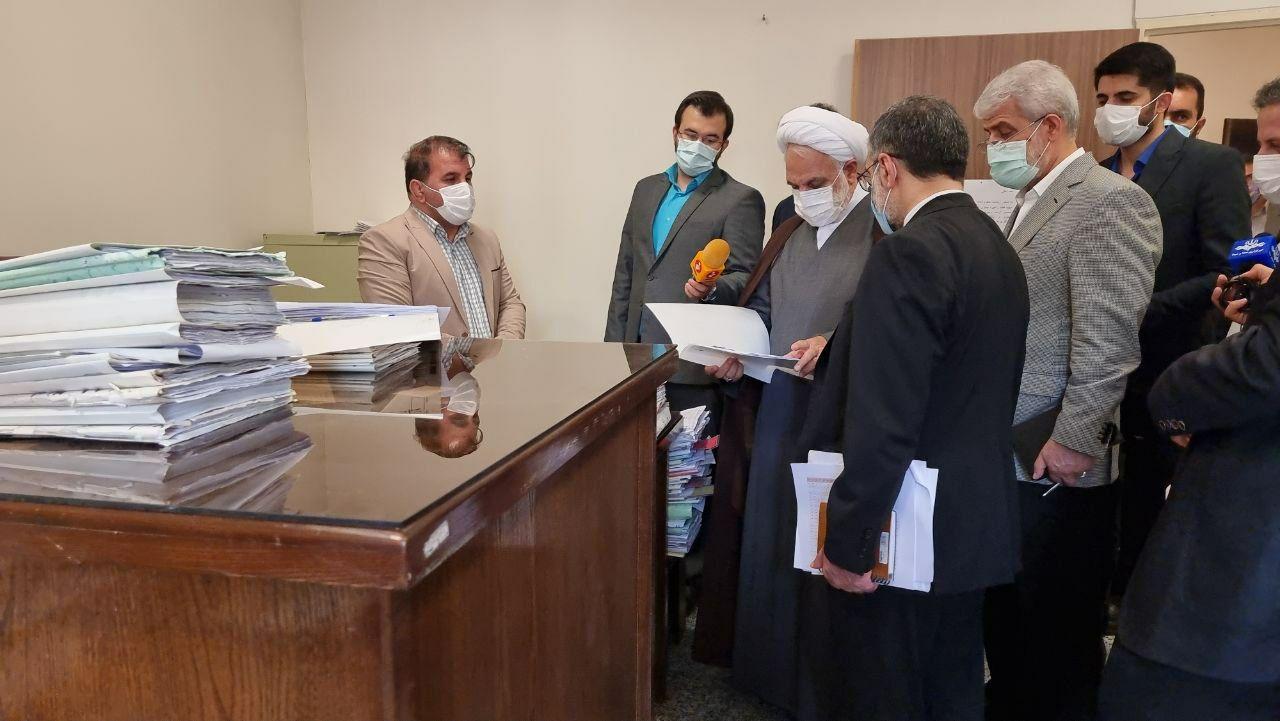بازدید سرزده رئیس قوه قضائیه از دادگستری شهرستان قدس+ عکس