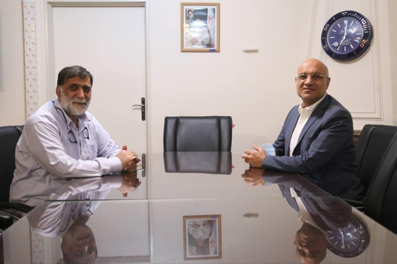 جلسه مصطفی آجورلو و مدیران سابق استقلال در دفتر علی فتح الله زاده