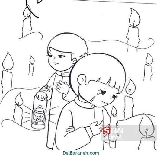 نقاشی کودکانه برای محرم