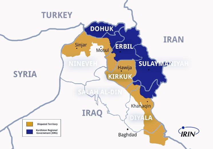 نقشه شمال عراق